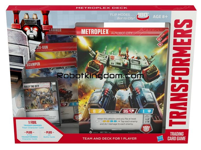 PWizard of the Coast Transformers Trading Card Game Metroplex Deck. Available Now!
