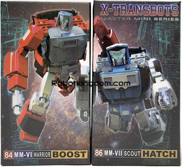 X-Transbots MM-VI Boost and MM-VII Hatch Cartoon version reissue Set of 2. Available Now!