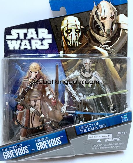Hasbro Star Wars 2010 Legacy of the Dark Side Exclusive - Pre-Cyborg Grievous to General Grievous.