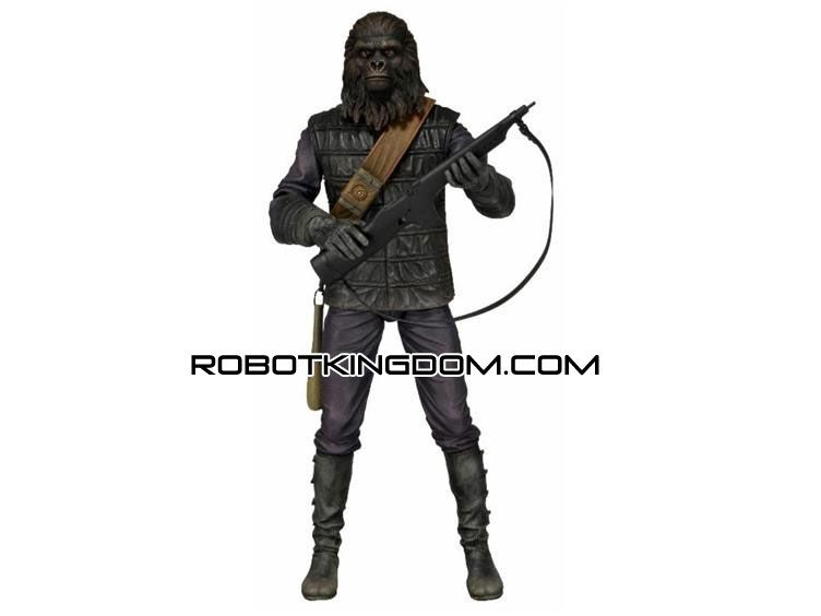 """NEW Mego PLANET OF THE APES Gorilla Soldier 8/"""" NECA Deluxe Cloth Action Figure"""