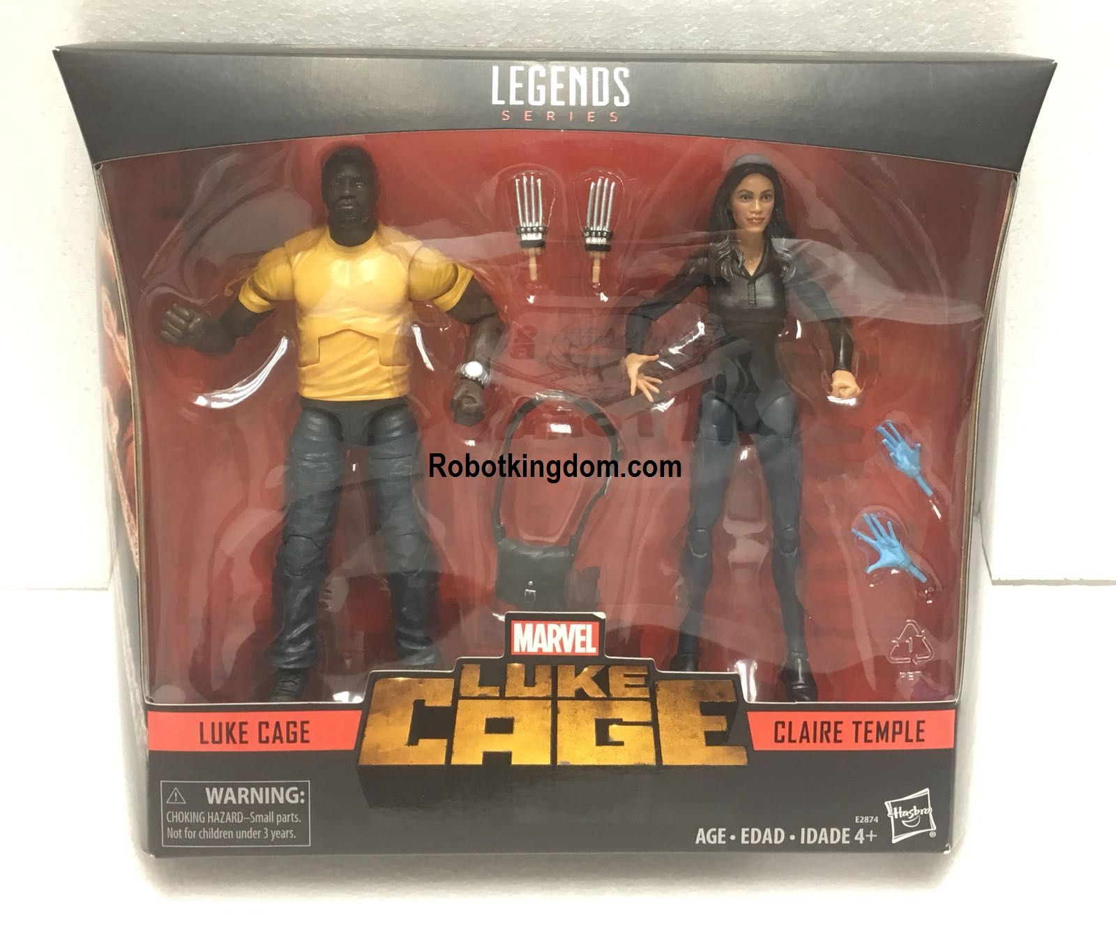 Marvel/'s Luke Cage /& Claire Temple 2-Pack Legends Series Exclusive Hasbro
