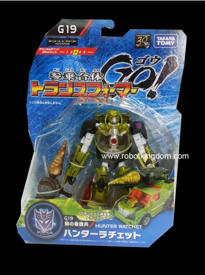 Takara Transformers Go G-19 Hunter Ratchet. Available Now!